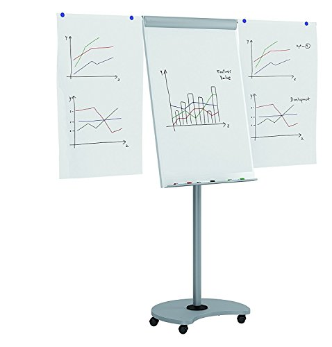 Rocada Visualline Transformer Multi-Functional Mobile Flipchart with Dry Erase Board and Table, 26.8 x 59 x 25.2 Inches, White and Gray (RD-618V15) by Rocada