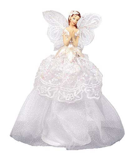 TREE TOP ANGEL - 20CM WHITE