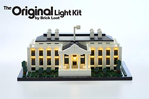 Brick Loot Lighting Kit for Your Lego The White House Kit 21006 Lego Set NOT Included (Legos Architecture White House)