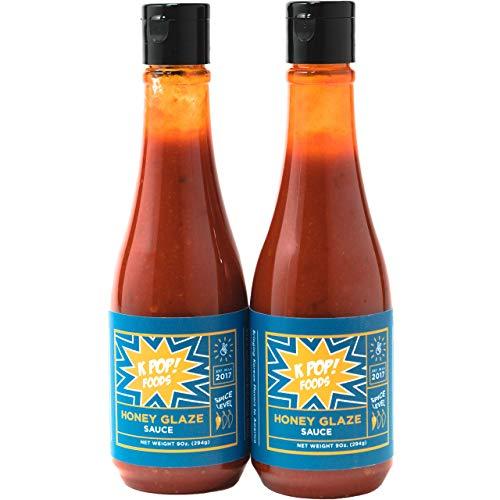 KPOP Foods Honey Glaze Sauce- Sweet Korean Honey BBQ Sauce (Using Authentic Korean Gochujang Chili Paste), Squeezable Bottle, 10.3 oz ()