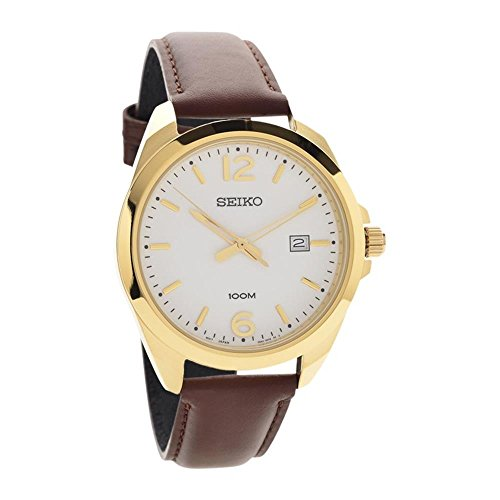 Gents Leather Strap - SEIKO-Quartz Gents Leather Strap Watch