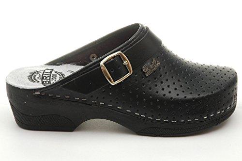 Pantofole Dr Nero Punto Scarpe Donna Zoccoli BRIL Rosso B2 Sabot Pelle wPqRw
