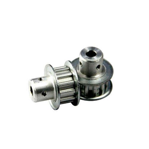 RioRand (TM) 2pcs correa de distribución polea de aluminio XY T5 Motor polea 5 mm 12-Tooth para eje, Motor paso a paso, 3d impresora: Amazon.es: Electrónica