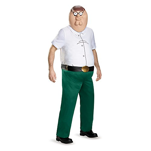 Disguise Family Guy Costume, Mens Peter Griffin Deluxe Outfit, X-Large, Chest 42-46