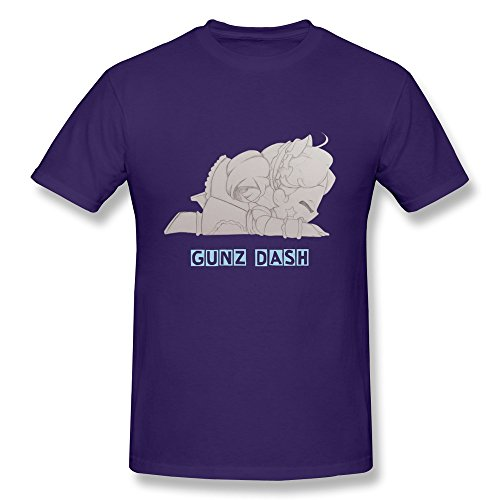 WSB Men's Tshirt Vintage Parkour Gunz Dash Custom Made T-shirt Purple Size XS