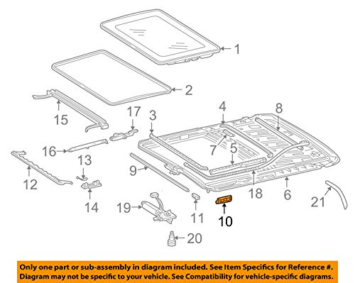 Mercedes OEM 96-09 E320 Sunroof-Cover 2107840456
