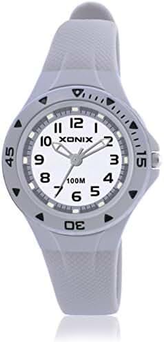 Girls girl girls kid luminous quartz pointer waterproof watch-B