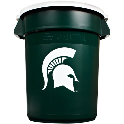 Rubbermaid Commercial Team Brute 32-Gallon Trash Can and Lid, Michigan (Michigan Wastebasket)