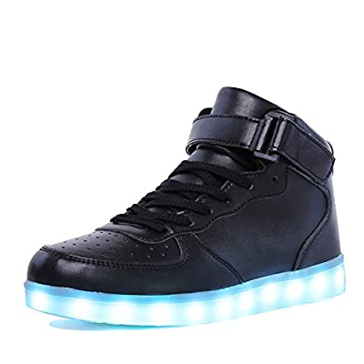 EQUICK Light up Shoes Women Flashing LED Luminous High Top Walking Sneakers 11 Colors Men Kid USB Charging