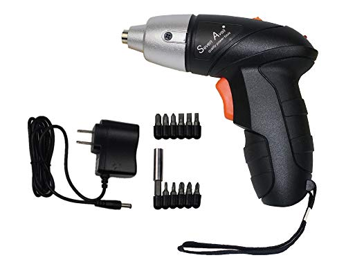 Seven Avail Cordless Screwdriver Drill Combo Kit - Electric Tool Set Drill with Powerful 4.8V 1300 mAh Ni-mh Battery & 11 Piece Screwdriver and 1 MAGNETIC HOLDER Impact Driller ()