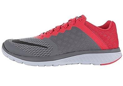 differently 76d9e 1c438 Nike FS Lite Run 3 2016 Running Shoes Gray/red, EU Shoe Size ...