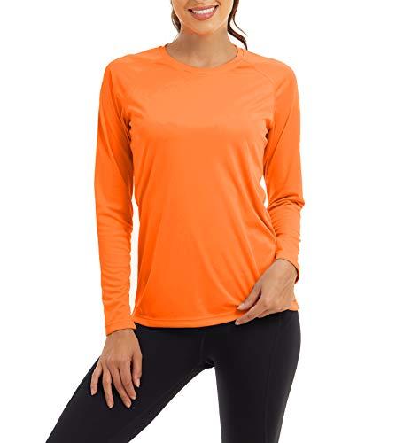 KEFITEVD Uv-beschermingskleding voor dames, UPF 50+, shirt met lange mouwen, sneldrogend, ademend, functioneel shirt met…
