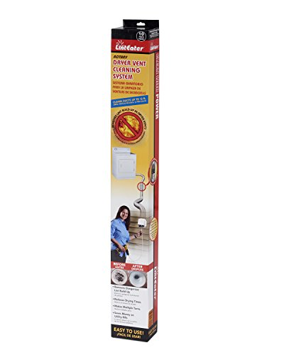 Half Vent (Gardus RLE202 LintEater Rotary Dryer Vent Cleaning System, Removes Lint & Extends Up to 12' with 4 Flexible 3' Rods, Includes Bonus Lint Trap Brush, Blockage Removal Tool, Vacuum & Dryer Adapters)