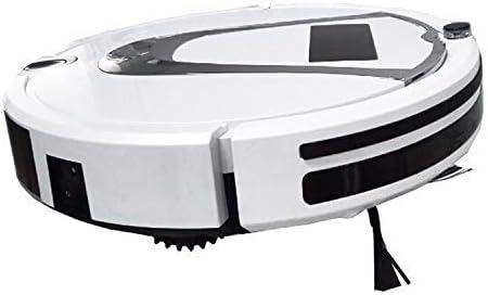 CHUTD TC-750 Smart Vacuum Cleaner Touch Display Robot de Nettoyage de Balayage Domestique avec télécommande (Noir) Blanc (Couleur: Noir) White