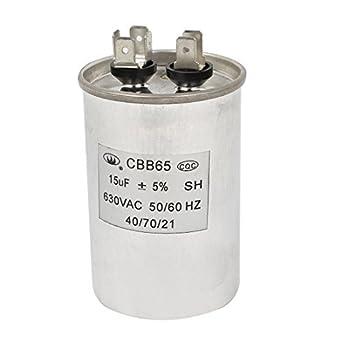 CBB65 AC630V 50 / 60Hz 15uF Lavadora Película de Polipropileno ...