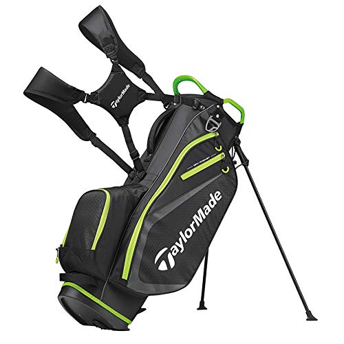 - TaylorMade 2019 Golf Select Stand Bag, Black/Green