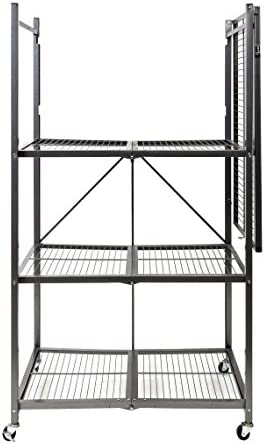 home, kitchen, storage, organization, racks, shelves, drawers,  standing shelf units 8 on sale Origami 4-Shelf Foldable Storage Shelves | for Garage deals