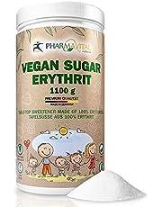 Pharmavital Vegan Sugar – tafelzoete van suikervervanging, tandvriendelijk, 1100 g, geproduceerd in Duitsland