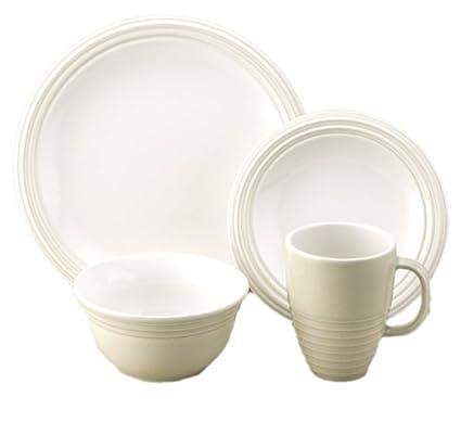 Amazon.com | Pfaltzgraff Cappuccino 16-Piece Dinnerware Set, Service ...
