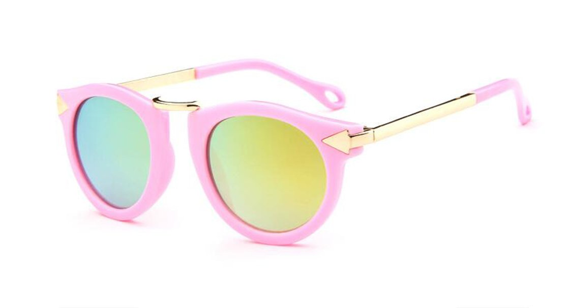 GAMT Children's Sunglasses UV Sunglasses Metal Arrow Pink gold frame mercury