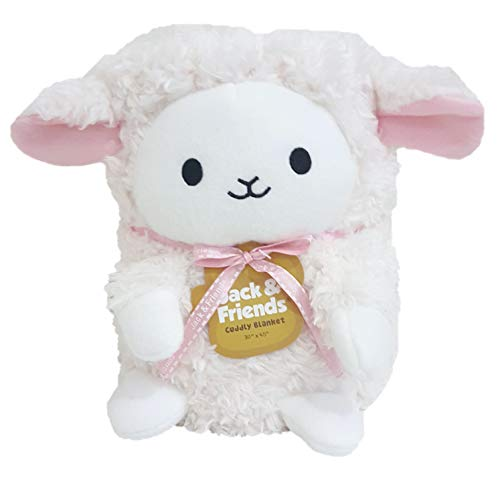 Jack & Friends Kids Animal Cuddly Blanket Lamb