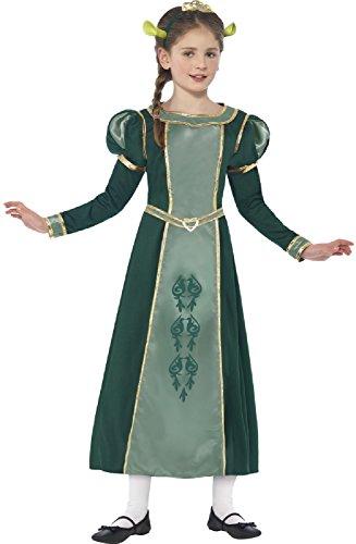 Girls Shrek Princess Fiona Ogre TV Film World Book Day Week Halloween Carnival Fancy Dress Costume Outfit 4-12 (4-6 years)