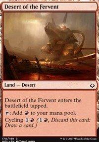 Desert of the Fervent - Hour of Devastation 170//199 Magic: the Gathering