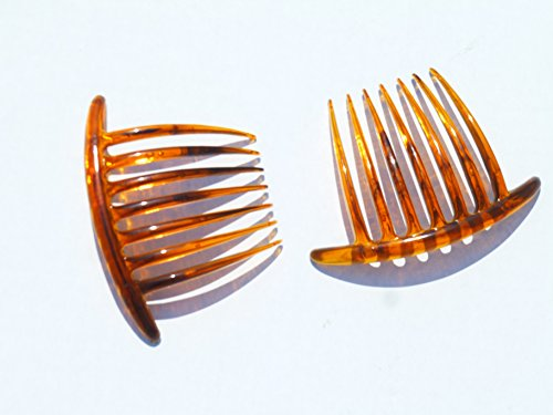 French Roll Hair Clip Side Combs Holder Updo Mohawk Hair Clip (Medium-tort) (French Roll)