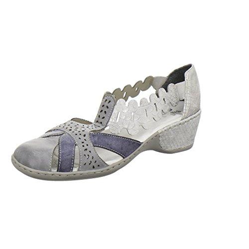 Rieker Women's Court Shoes Blue g1Hm8K