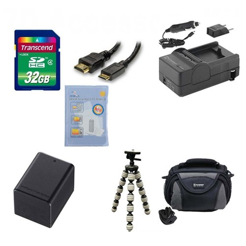 Canon Legria HF R56 Camcorder Accessory Kit includes: SDBP727 Battery, SDM-1556 Charger, SD32GB Memory Card, SDC-26 Case, HDMI6FM AV & HDMI Cable, ZELCKSG Care & Cleaning, GP-22 Tripod by Synergy Digital