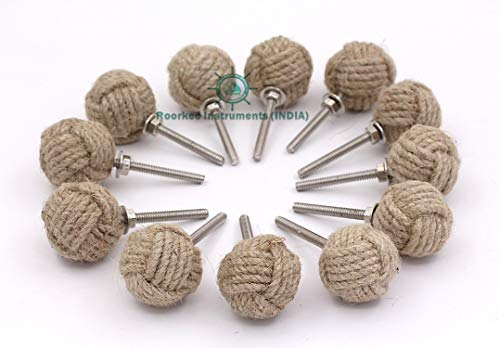 Nautical Hardware Cabinet (Roorkee Instruments India 12 Knotty Door knobs - Nautical Drawer pulls - Jute Rope Drawer pulls)