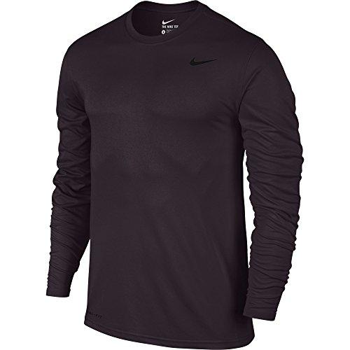 Nike Mens Legend 2.0 Long Sleeve Dri-Fit Training Shirt - 718837-652 (Port Wine Size Small)
