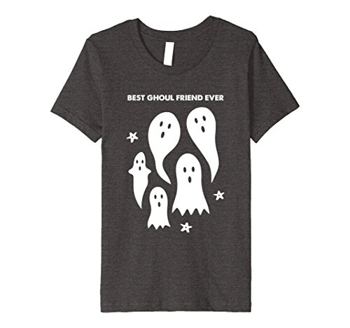 Best Girls Costumes For Halloween Two Friends For (Kids Funny Halloween T-Shirt - Ghosts - Best Ghoul Friend Ever 8 Dark)
