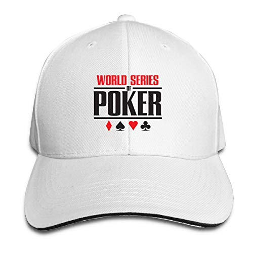 (World Series of Poker 2017 Adult Hat Unisex Solid Color Duck Tongue Hop Adjustable Baseball Cap White)
