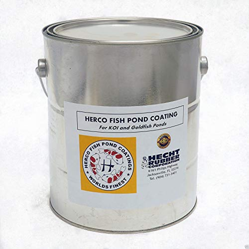 PetExpress HERCO Neoprene Rubber Koi Fish Pond Coating & Sealer (1 Gallon) – Clear