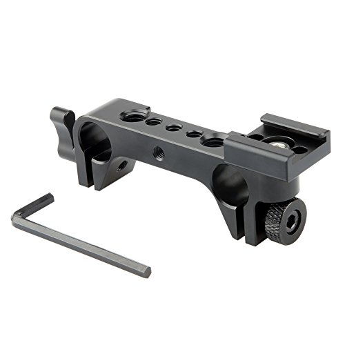 NICEYRIG 15mm Rod Clamp Rail Block with Hot Cold Shoe Mount Adapter for 15mm Rod Rail Support System