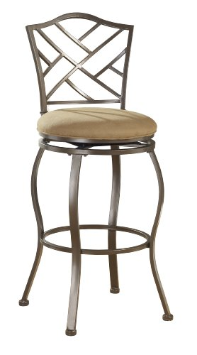 Hillsdale Furniture 4815-843 Hanover Swivel Counter Stool, 24-Inch, Brown