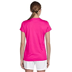 New Balance Ndurance Ladies' Athletic V-Neck T-Shirt, Sfty Pink, Small