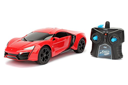 Jada Toys Fast & Furious Lykan Hypersport- Ready to Run RC/Radio Control Toy Vehicle Car, Red, 1: 16 Scale (Fast And Furious 7 Dodge Charger Off Road)