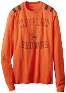NFL Cleveland Browns Men's Bruiser Long Sleeve Tee, Large, Carrot