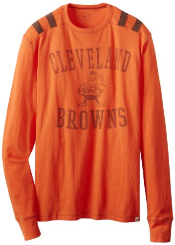 NFL Cleveland Browns Men's Bruiser Long Sleeve Tee, Small, Carrot