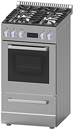 "Avanti DGR20P3S 20"" Gas Freestanding Range with Sealed Burner Cooktop, 2.1 cu. ft. Primary Oven Capacity, in Stainless Steel"
