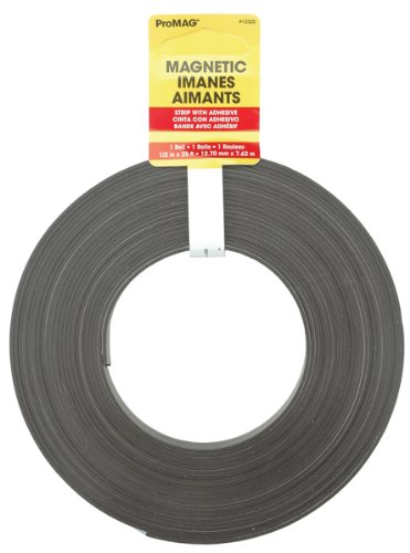 Strips Magnum (Magnum Magnetics Corp Adhesive Magnetic Strip, 1/2-Inch x 25-Feet)