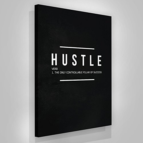 SuccessHuntersPrints Motivational Hustle Canvas Print Wall Home Verb Office Decor Modern Art House Inspiration Decoration Motivation Entrepreneur Inspirational (48