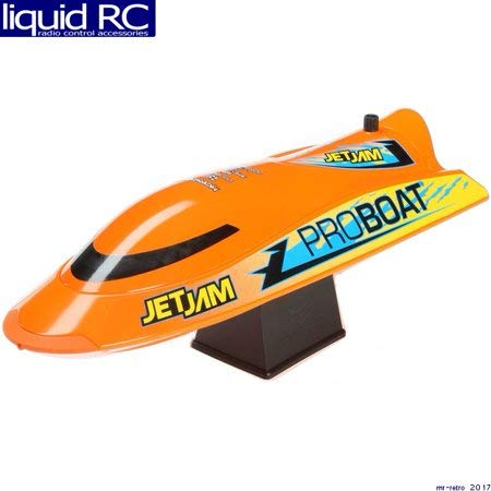 Pro Boat Jet Jam RC Boat 12' Self-Righting Pool Racer RTR (Includes Transmitter, Battery & Charger) Orange, PRB08031T1