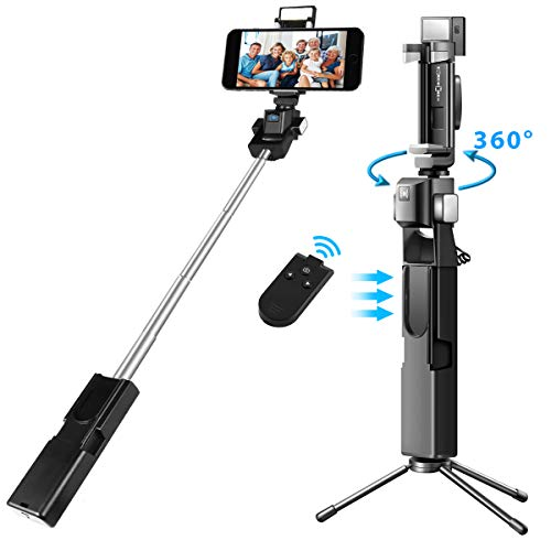 Electron Beast 360°Electric Rotation Selfie Stick Bluetooth Remote Infrared Control with Wireless Remote, Tripod, Fill Light for iPhone Galaxy GoPro Cameras & Android