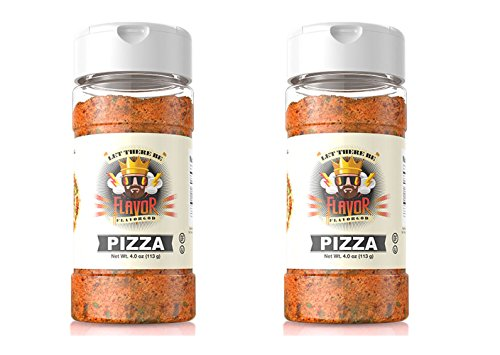 Set of 2 Flavor God 4 oz. Pizza Seasoning Bottle bundled by Maven Gifts (Seasonings 4 God)