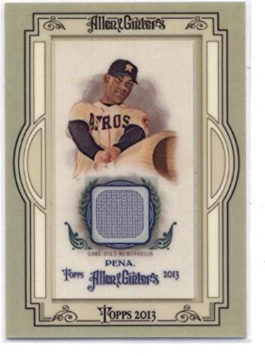 2013 Allen and Ginter Framed Mini Relics #CP Carlos Pena MLB Baseball Card (Memorabilia/Game Used) - Game Pena Carlos