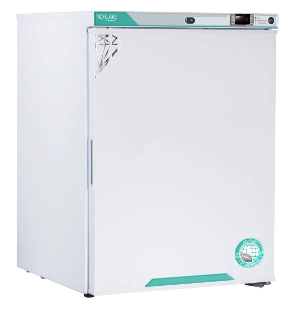 Nor-Lake Scientific FR051WWW/0 White Diamond Series Freestanding Under Counter Flammable Storage Refrigerator, Solid Door, Right Hinged, 115V, 5 cu. ft. Capacity