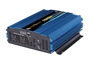Power Bright PW1500-12 Power Inverter 1500 Watt 12 Volt DC To 110 Volt AC